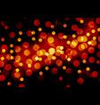 abstract red yellow bokeh night background vector image