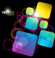 abstract square shape vector image vector image