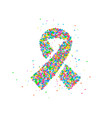abstract world day cancer vector image