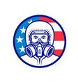 american industrial worker wearing rpe mascot vector image vector image