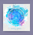 astrology horoscope wheel with zodiac signs vector image