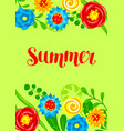 background with summer flowers vector image vector image