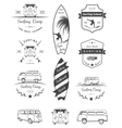 Badges and Logos Surfing vector image vector image