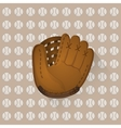 baseball ball and glove vector image vector image