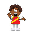 black african boy smile cartoon design isolated vector image