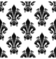 Black and white vintage floral seamless pattern vector image vector image