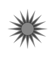 Black design element icon sun vector image vector image