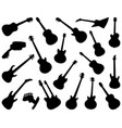 black silhouettes guitars vector image