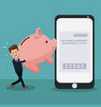 businessman paying bills vector image vector image