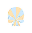caramel skull sweet skeleton head halloween scary vector image vector image
