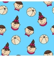 Child and baby cute seamless pattern vector image vector image