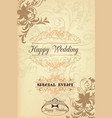 classic wedding card with swirl ornament vector image vector image