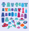 collection of fashion cloth and accessories vector image vector image