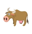 Cow cartoon icon vector image vector image
