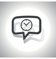 Curved clock message icon vector image vector image
