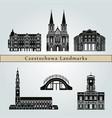 czestochowa landmarks vector image vector image