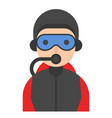 diver icon profession and job vector image vector image