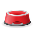 dog bowl for food vector image vector image