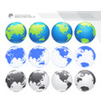 earth globes sets vector image vector image