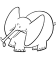 Elephant Cartoon for coloring book vector image