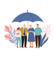 family protection concept vector image vector image