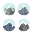 Flat mountaines Mission and vector image vector image