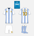 Football kit template for your sport club