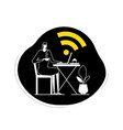 free wifi - flat design style vector image vector image