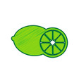 fruits lemon sign lemon scribble icon on vector image vector image