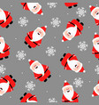 funny santa claus seamless pattern print for vector image vector image