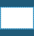 geometric border frame blue color modern style vector image
