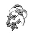 goat cigar tribal tattoo style vector image vector image