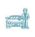 going in for motoring linear icon concept going vector image vector image