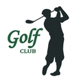 Golf club sign - vector image
