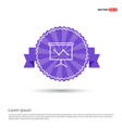 growing graph icon - purple ribbon banner vector image
