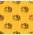 Halloween Smiling Pumpkin Seamless Pattern vector image vector image