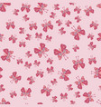 hand drawn butterfly pattern cute elegant design vector image vector image