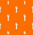 hand pattern seamless vector image vector image