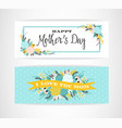 happy mothers day lettering greeting banner vector image vector image
