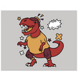 hipster t rex cartoon t shirt design vector image vector image