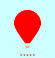 hot air balloon set it is color icon vector image