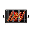 hot dog grill realistic banner tasty menu vector image vector image