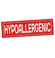 hypoallergic sign or stamp vector image