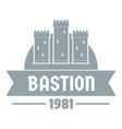 kingdom bastion logo simple gray style vector image vector image