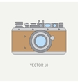 Line flat icon with retro analog film vector image