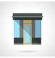 Market storefront flat color design icon vector image vector image