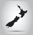 new zealand map black icon on white background vector image vector image