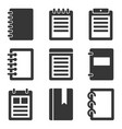 notebook icons set vector image vector image