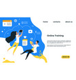 online training landing page web service with vector image vector image