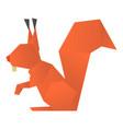 origami squirrel icon cartoon style vector image